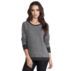 Joie Soft Annora TwoTone Terry Sweatshirt Charcoal